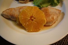 カジキのソテー バルサミコオレンジソース