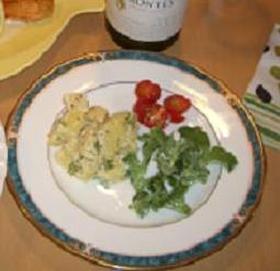 はじめての食感、ソルティーナのサラダ