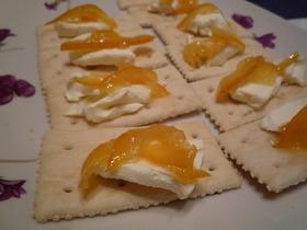 クリームチーズ&マーマレードクラッカー