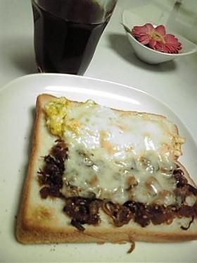 セロリの佃煮deトースト