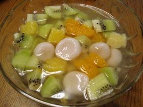 ヨーグルト白玉のフルーツパンチ