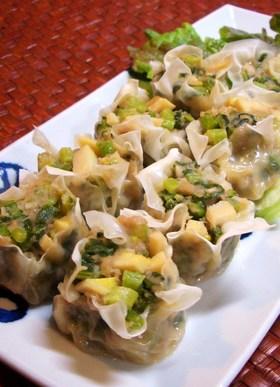 筍と青菜のシュウマイ