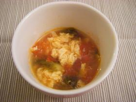 トマトとレタスの卵スープ