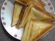 ハム焼きサンド(ホットサンド)の写真