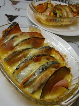 カボチャとハムのチーズ焼き