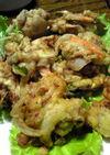 三ツ矢サイダーで豚肉と春野菜の柔らか揚げ