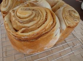 折込シートde簡単キャラメルマーブルパン