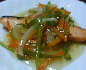 鮭の野菜中華あんかけ♪