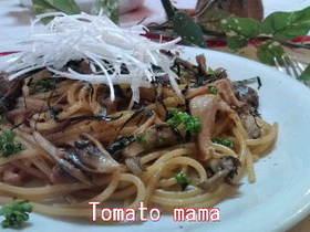 ランチ☆舞茸の焼きスパゲティー