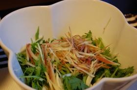 みょうがと春菊のオトナ味サラダ