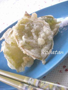 春を感じる✿柿の葉の天ぷら
