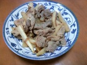 大根と豚肉のピリ辛炒め