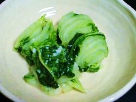 絶品☆3分で♪春白菜の358漬け物