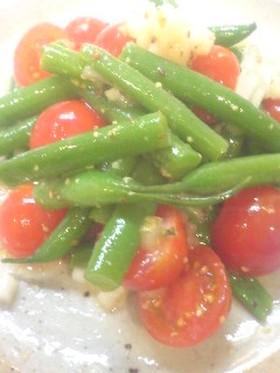 プチトマトといんげんのサラダ