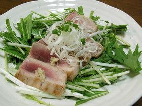 ☆マグロの炙り焼き☆水菜のサラダ