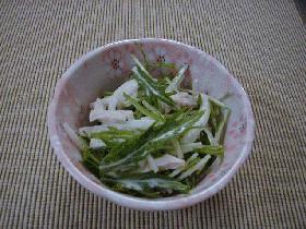 水菜のからしマヨポン