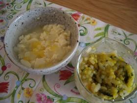 離乳食前期 豆腐と大根の甘夏果汁和え