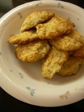 生ココナッツとバナナのクッキー