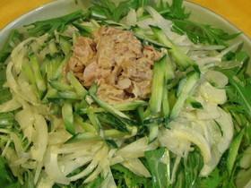 水菜とツナのサッパリ★サラダ