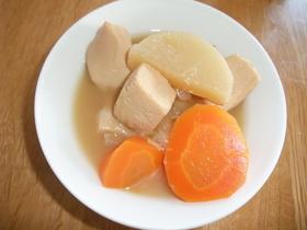 凍り豆腐と大根と人参の甘味噌煮