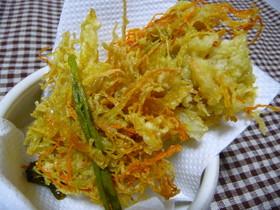 ヤーコンと野菜のかき揚げ