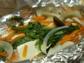 鮭と豆腐が出会った♪*鮭のホイル焼き