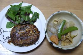 そば粉 de 豆腐のハンバーグ