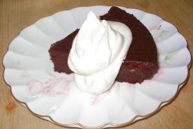 ムース風ベイクドチョコケーキ