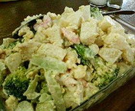 海老とブロッコリーの春色ポテトサラダ