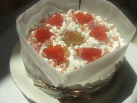 ノンオイル&生クリームで卵白ケーキ