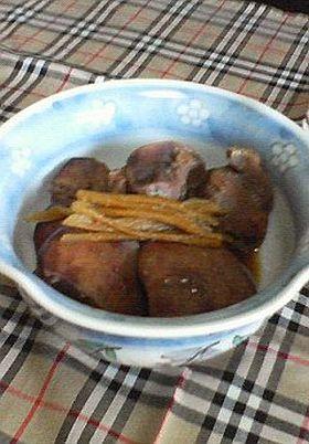 鶏モツの甘辛煮