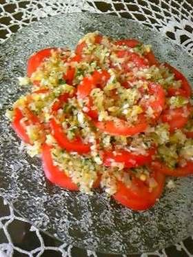 ネギトマトのサラダ