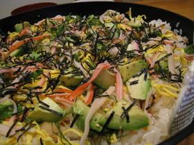 アボカドちらし寿司。