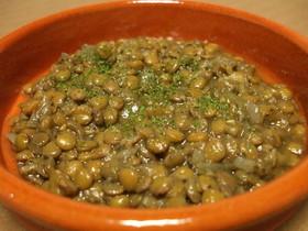 レンズ豆の煮込みスペイン風