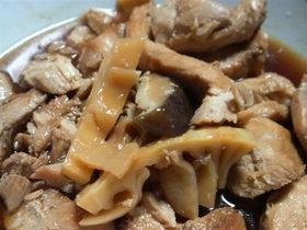 鶏むね肉とたけのこの煮物