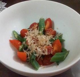 おかか・トマト・オクラのサラダ