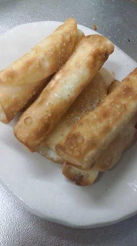 餃子の皮で 簡単おつまみ チーズ巻き
