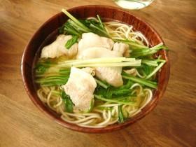 水菜と豚バラのシャキシャキにゅう麺