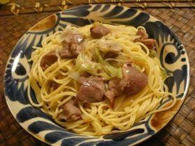 コリコリ大好き☆砂肝のペペロンチーノ