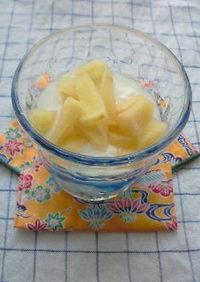 簡単レンジで5分☆お酢でりんごデザート!