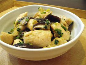鶏と椎茸の塩炒め