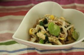 もやしと空豆のナムル風サラダ