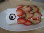 卵一個でミニロールケーキ(こどもの日)の写真