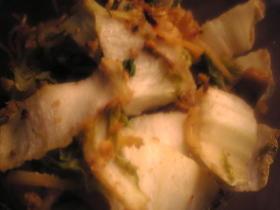 ブリの卵と白菜の焼きそば