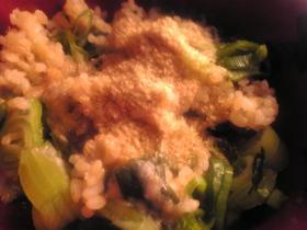 明太子とわかめと山芋の混ぜご飯