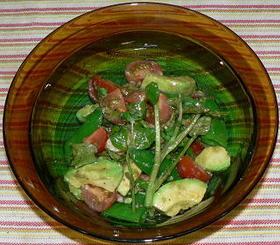 アボカドと海老のバルサミコ酢風味サラダ