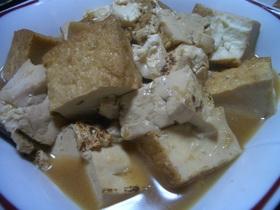 甘辛でもさっぱりな焼き豆腐と厚揚げの煮物