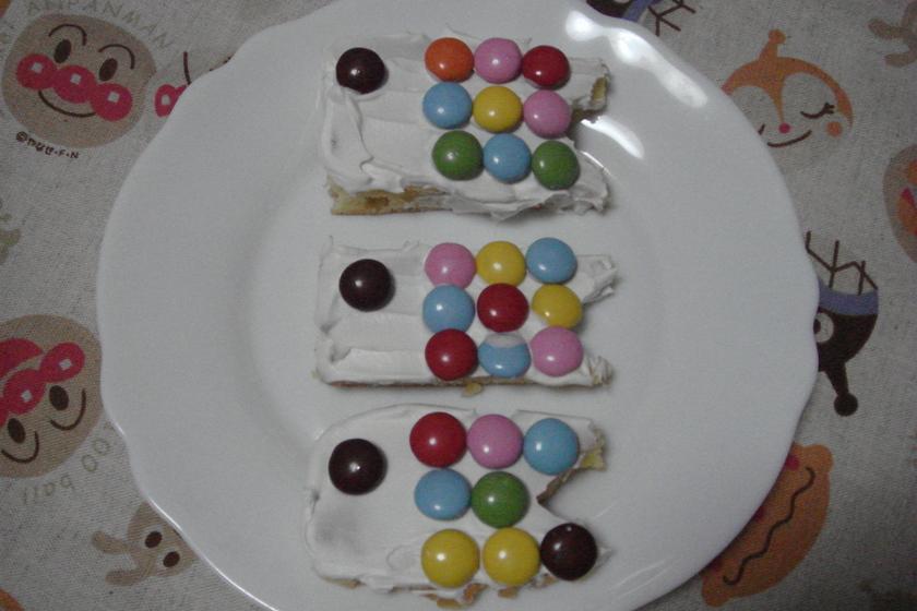 こどもの日☆カラフルなこいのぼりケーキ☆