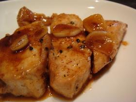鶏胸肉の七味炒め