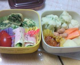 蒸し野菜と簡単お弁当☆